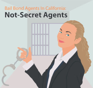 graphic portrait of a smiling bail bond agent