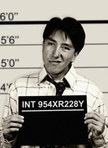 mugshot of an arrested businessman